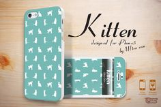 Cute iPhone 5 case, kitten mint iPhone 5 hard case,  cute cat iPhone 5 cover with front skins, iPhone hard case. $18.99, via Etsy.