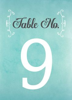 Nothing Sweeter Table Numbers - Hoopla House