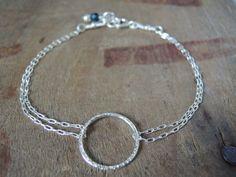 Dainty Sterling Silver Ring Bracelet Layering by annikabella