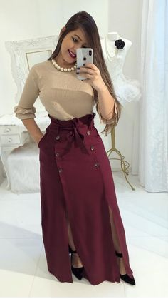 Modest Fashion Hijab Fashion Fashion Outfits Womens Fashion Blouse And Skirt Dress Skirt Skirt Outfits Cute Outfits Beautiful Outfits Modest Outfits, Skirt Outfits, Modest Fashion, Hijab Fashion, Casual Dresses, Cute Outfits, Fashion Outfits, Trend Fashion, Look Fashion