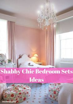 Shabby chic style is essentially a country look with an elegant twist. This style is infusion of time-worn furniture, a pale palette and dainty floral and tea-stained linens- making it perfect for your bedroom. One Bedroom, Bedroom Sets, People Sleeping, Shabby Chic Style, Linens, Palette, Relax, Elegant, Country