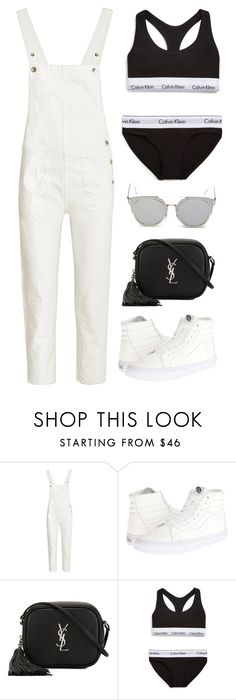 """""""Untitled #11182"""" by minimalmanhattan ❤ liked on Polyvore featuring M.i.h Jeans, Vans, Yves Saint Laurent, Calvin Klein Underwear and GANT"""