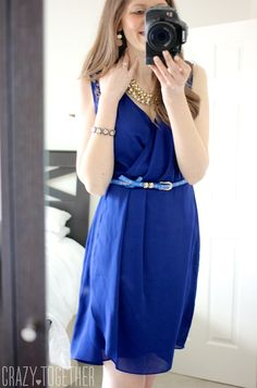 blue Uttam Sallie Dress from Stitch Fix. I love the design, but I don't need any more blue dresses.