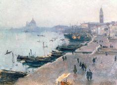 John Singer Sargent - Venice in Grey Weather, watercolor