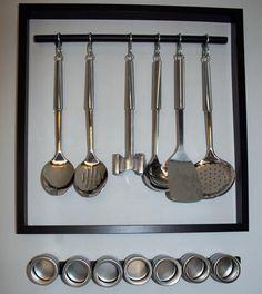 Frame + cooking utensils = instant art!