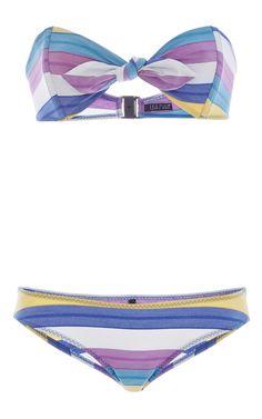 Poppy Striped Twist Front Bikini Set by LISA MARIE FERNANDEZ Now Available on Moda Operandi