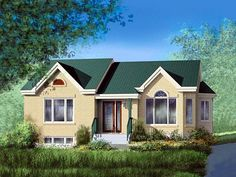 Ranch Elevation of Plan 49478