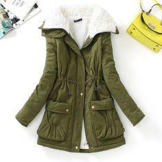 Slim Winter Fur Long Sleeve Women Outwear Jackets