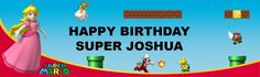 Super Mario Bros. - Princess Peach Personalized Vinyl Banner from BirthdayExpress.com