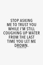 Yep! One time maybe... after the second, he should have been gone... 10 chances were too many... you now can't drown me with more of your deception and games
