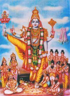 Indic Nonpareil — bhrm555:  Vamana   Shri Vishnu as Trivikrama...