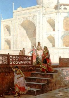 Nautch Girls emerging from the Taj Mahal - Edwin Lord Weeks