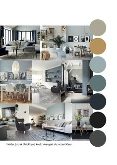 Interior advice mood board interior advice for a warm interior with blue (den . Interior advice mood board interior advice for a warm interior with blue (denim drift). Cool and warm combined. Interior Paint Colors For Living Room, Mood Board Interior, Home Interior Design, Home Living Room, Living Room Designs, Living Room Decor, Casa Hygge, House Design, Home Decor
