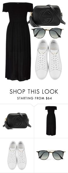 """Untitled #4442"" by beatrizvilar on Polyvore featuring Gucci, River Island, Yves Saint Laurent and Ray-Ban"