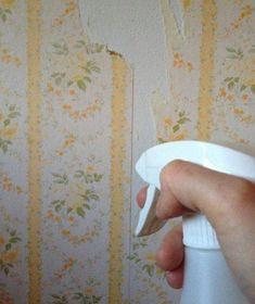 Utilisez du vinaigre blanc pour décoller le papier peint