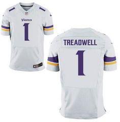 Minnesota Vikings #1 Laquon Treadwell Nike White Elite 2016 Draft Pick Jersey