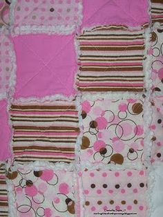 Rag quilt from flannel receiving blankets