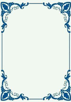 Marco tarjetas azul Mobile Wallpaper, Iphone Wallpaper, Molduras Vintage, Borders And Frames, Phone Backgrounds, Stencils, Clip Art, Baby Shower, Diy
