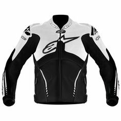 Alpinestars Atem Leather Jacket , Distinct Name: Black/White, Gender: Mens/Unisex, Primary Color: Black, Size: Apparel Material: Leather Motorbike Leathers, Motorbike Jackets, Yamaha R6, Riding Jacket, Riding Gear, Honda Powersports, Motorcycle Outfit, Motorcycle Clothes, Motorcycle Leather