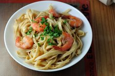 Tagliatelle with Shrimp and Champagne Butter Sauce recipe on Food52