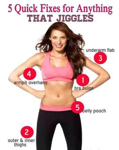 5 Quick Fixes for Anything that Jiggles #Health #Fitness #Trusper #Tip