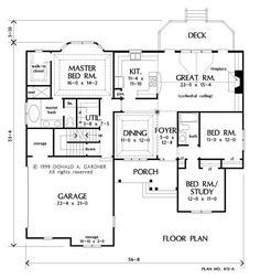 1000 images about houplans on pinterest ranch homes for Basement floor plans with stairs in middle
