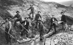 Miners during the California Gold Rush.
