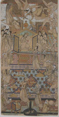 The Queen of Sheba Enthroned Object Name: Illustrated single work Date: late 19th–early 20th century Geography: Iran