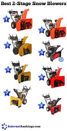 Reviews of the top 8 best 2-stage snow blowers as rated by RelevantRankings.com