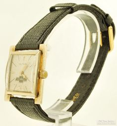 """65 discounted items have just been listed on our eBay store; among the 35 vintage pieces on sale is this Voltaire wrist watch, with a 17-jewel movement, distinctive 14k yellow gold square case, a Chevrolet bow-tie logo and light patina on the metal dial.    To see all of our newly listed marked-down items, visit our """"On Special This Week"""" category here:  http://stores.ebay.com/PM-Time-Service/On-Special-This-Week-/_i.html?_fsub=6"""
