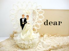 ~~Vintage Wedding Cake Topper~~