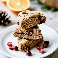 These gluten-free orange cranberry coconut scones made from oat and coconut flours are naturally sweetened and low sugar. https://yumgoggle.com/gluten-free-orange-cranberry-coconut-scones/ Healing Recipes by Yang's Nourishing Kitchen