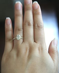 1.50 Ct. Oval Solitaire Diamond Engagement Ring in by Studio1040