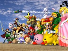 Nintendo will be revealing Super Smash Bros. Wii U gameplay for the first time during Super Smash Bros. has always been one of Nintendo's aces in the hole. On the Nintendo it gave . Super Smash Bros Melee, Super Smash Flash, Super Smash Bros Characters, Nintendo Characters, Video Game Characters, Pokemon, Pikachu, Mario Brothers, Mario Bros.