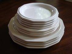 Pfaltzgraff HERITAGE WHITE Three Plate Place Setting for Four! by…