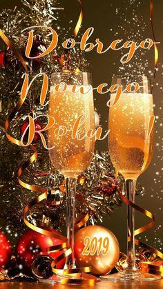 Kartka świąteczna 🥂🍾🍸🍷🍹🌲🤶🍸🍹🎅 Happy New Year 2019, Vintage Christmas Cards, Wine Glass, Alcoholic Drinks, Entertaining, Holidays, Wallpaper, Disney, Painting On Fabric