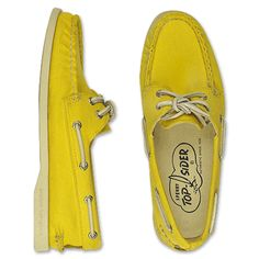 Yellow Sperry (Cloud Logo) Top-Siders. Love these.