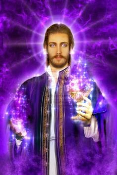 Saint Germain is the chohan of the seventh ray, and master alchemist of the sacred fire who comes bearing the gift of the violet flame of freedom for world tra… Saint Germain, White Dragon Society, Ashtar Command, Ascended Masters, Visionary Art, Love And Light, Victorious, Saints, Gods And Goddesses