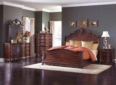 2243 Deryn Park Bedroom by Homelegance in Cherry w/Sleigh Bed