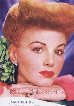 1940's Hairstyles.. in 1981/82 I was wearing my hair like this, except the front of my hair was pin curled, then the curls were taken out and loosened.. Such an easy hair doo, plus off the neck and very CUTE!