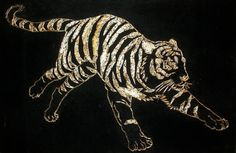 1978 Tiger String Art