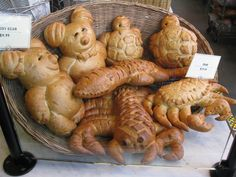 Bread - bears, crab, lobster, etc.
