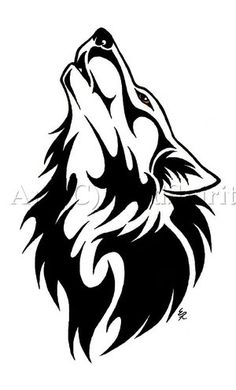 Wolf tattoo.... This is my tattoo! Glad to see I'm not the only one who loves this design!