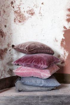 Stack of soft cushions. Molly Marais.