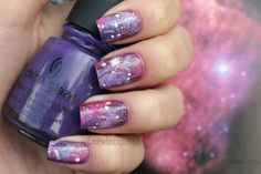 Really loving space nails :)