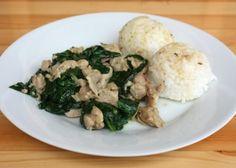 Kuracie mäso so špenátom - recept