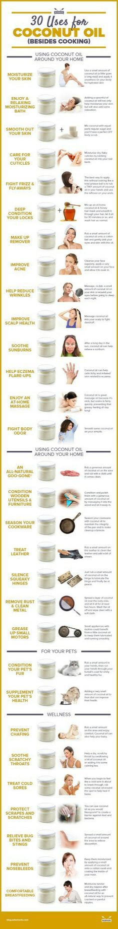 30 uses for coconut oil