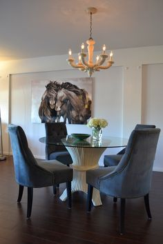 """Julie Chang's """"Cheap-Chic"""" dining room designed by Hillary Thomas"""