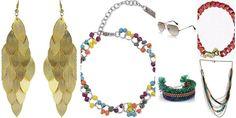 """Chic on the Sand- Nargis Fakhri"" Awesome list on #bracelets #neckpieces by @Meghan Mazzola.vij0gmail.com #fashion"