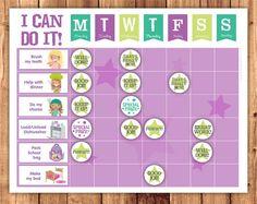 Printable reward chart / chore chart pack / by LittleGraphics